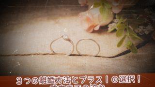 3つの離婚方法とプラス1の選択