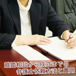 離婚相談から成立までの弁護士依頼方法と費用